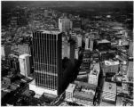 Aerial view of downtown Atlanta; the large building under construction in the foreground is the...