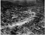 Aerial photograph of Atlanta, Georgia, showing demolition for the Downtown Connector of...