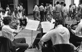 Members of the Atlanta Symphony Orchestra on strike during opening night, 1983