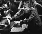 Atlanta Symphony Orchestra conductor Robert Shaw during a performance, 1980