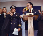 Mayor Maynard Jackson announcing the new Atlanta Police Chief Eldrin Bell, 1990