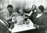 Atlanta City Councilman James Howard and other civic leaders at Paschal's Restaurant, 1982