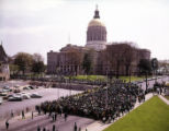 Funeral procession for Martin Luther King Jr. outside the State Capitol, 1968