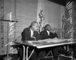 Civil rights meeting with Martin Luther King Jr. and Roy Wilkins, 1968