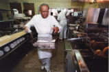 Robert Paschal in the kitchen of Paschal's Restaurant, Atlanta, 1992