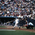 Hank Aaron of the Atlanta Braves at bat with 713 homeruns, 1973