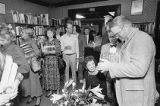 Author Pat Conroy at a book signing event at the Old New York Book Shop, 1987