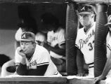 Atlanta Braves' manager Chuck Tanner during a losing streak, 1986