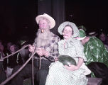 Savannah Beaux Art Ball - costumed farmer and wife hauling watermelons by wagon, 1953