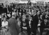 Crowd inside Atlanta Municipal Airport's new terminal for the dedication ceremony, 1961