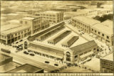 Architectural drawing of the Atlanta Municipal Market (Sweet Auburn Curb Market), 1928
