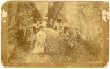 Wedding party,  photographic cabinet card, Greene County, Georgia, 1890s?