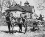 Horse and buggy in Atlanta, circa 1890s