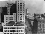 Office buildings and stores along Peachtree Street, circa 1930s