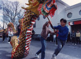 Students rehearsing at the Chinese Community Center for the Chinese New Year celebration, 1992