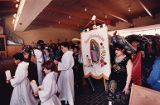 Mass procession during Our Lady of Guadeloupe celebration, 1991