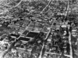 Aerial view of the city of Carrollton, 1940s