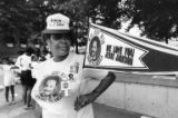 Jesse Jackson supporter at the Democratic National Convention, 1988