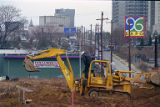 Coca-Cola Olympic City construction near Centennial Olympic park site, 1995