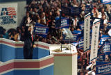 Democratic nominee Michael Dukakis delivering his acceptance speech, 1988