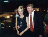 Donald Trump celebrating with Marla Maples at the Atlanta Hard Rock Cafe, 1994