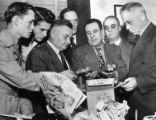 Anti-nazi detectives confiscate explosives from the Columbian hate group during an investigation,...