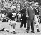Coach Wally Butts of the Georgia Bulldogs during a game, 1955