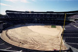 Turf being installed at Turner Field, 1997