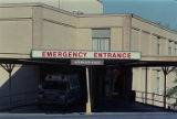 Physicians and Surgeons Hospital, under investigation (emergency room entrance), 1989