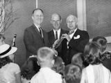 Conductor Henry Sopkin with Atlanta Board members Rodney Cook, 1962