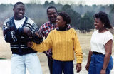 Lincoln County High School football star Garrison Hearst with his family, 1990