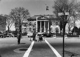Surveyors in front of the DeKalb County Courthouse, 1976