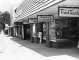 Storefronts and shop signs in Decatur, 1979