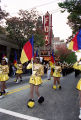 Douglass High School marching band and color guard during the Atlanta Braves World Series victory...