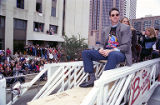 Atlanta Braves' World Series MVP Tom Glavine during the World Series victory parade, 1995