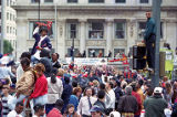 Crowds watch the Atlanta Braves World Series victory parade, 1995