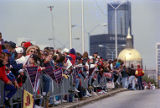 Crowds line the streets during the Atlanta Braves World Series victory parade, 1995