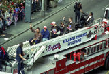 Atlanta Braves' pitchers during the World Series parade through downtown, 1995