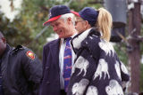 Team owner Ted Turner with wife Jane Fonda during the Atlanta Braves World Series victory parade