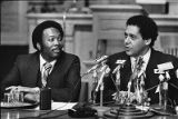 Mayor Maynard Jackson with public safety commissioner Reginald Eaves, 1978