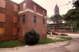 Boarded-up public housing complex Techwood Homes awaiting renovation in time for 1996 Olympics,...