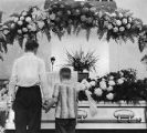 Mourners at the funeral for Senator Walter F. George, 1957