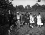 Moore's Ford Bridge mass lynching, July 25, 1946. Graves of the victims; family and community...