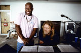 Musicians Jaimoe and Gregg Allman of the Allman Brothers Band, 1990