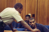 Defendant Emmanuel Hammond on trial for the murder of Julie Love, 1989