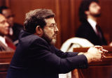 Jerry Love in court during the trial of his murdered daughter Julie Love, 1990