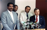 Detectives in charge of the Julie Love missing person case hold a press conference, 1989