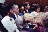 Family members of Julie Love become emotional during Emmanuel Hammond's trial, 1990
