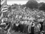 Supporters turnout to hear governor candidate Eugene Talmadge speak at a campaign event, 1946