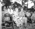 Supporters watching M. E. Thompson during a campaign speech, 1954